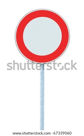 European Union No Vehicles Warning Sign, Isolated
