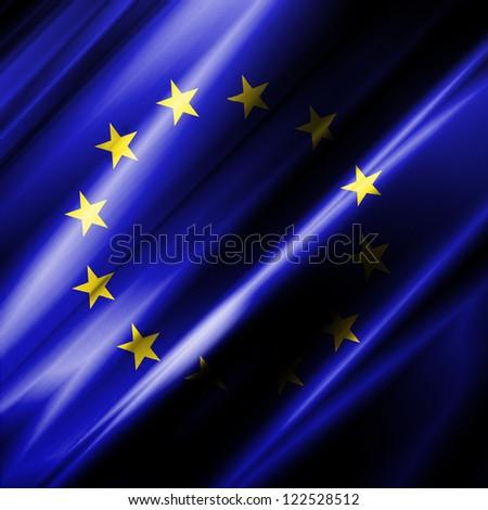 European Union Waving Flag - stock photo