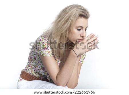 European woman - stock photo