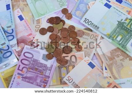 Euros - stock photo