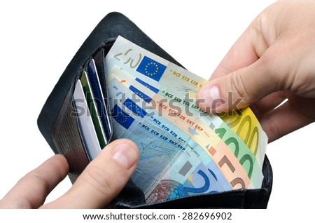 Euros in the wallet