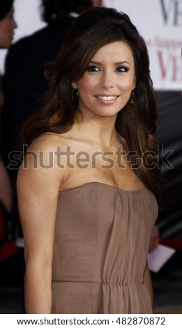 Eva Longoria at the World premiere of 'What Happens in Vegas' held at the Mann Village Theater in Westwood, USA on May 1, 2008.