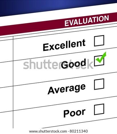 Evaluation list and check box illustration design - stock photo
