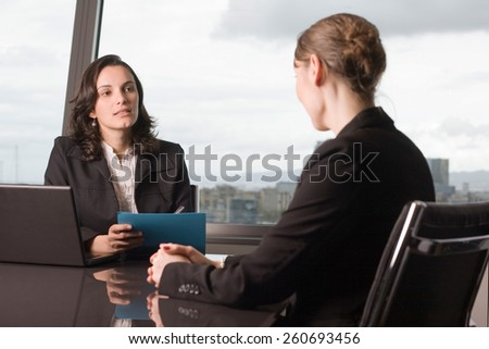 Evaluation of workers - stock photo