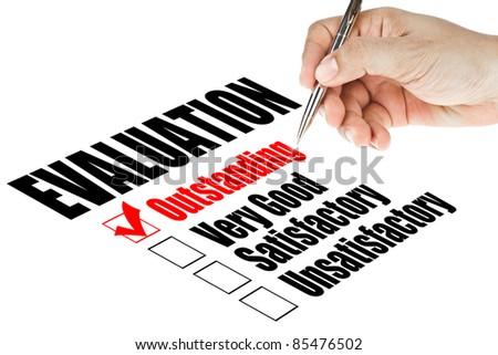 evaluation quality survey - stock photo