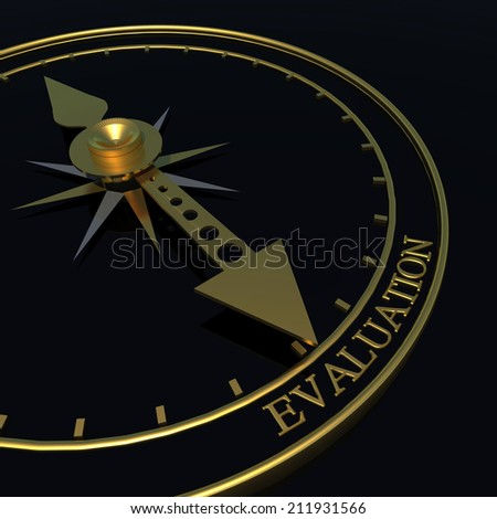 evaluation time - golden 3d - stock photo