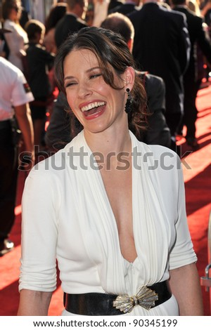 "Evangeline Lilly at the Los Angeles premiere of her new movie ""Real Steel"" at Universal Studios Hollywood. October 2, 2011  Los Angeles, CA Picture: Paul Smith / Featureflash"