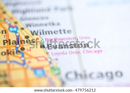 Evanston Illinois Stock Images RoyaltyFree Images Vectors - Evanston illinois us map