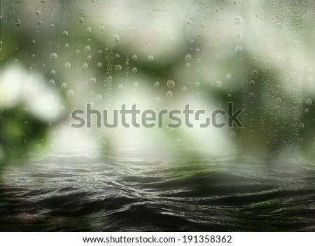 evaporation in the sea - stock photo