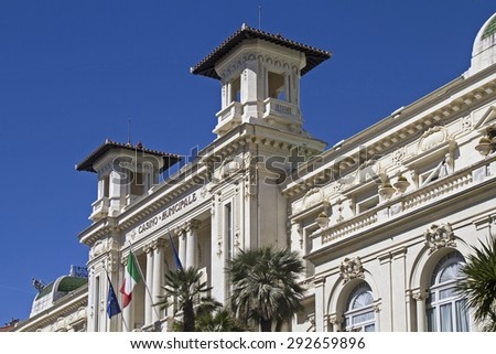 even today much visited - Casino Municipale in San Remo - stock photo