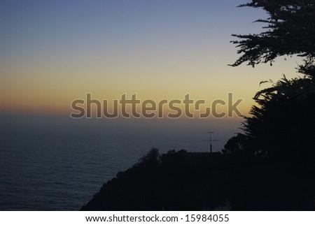Evening at Big Sur, California - stock photo