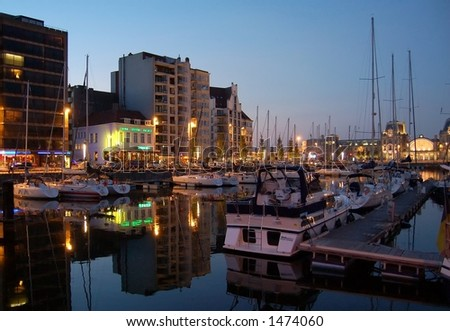 Evening at the littoral - stock photo