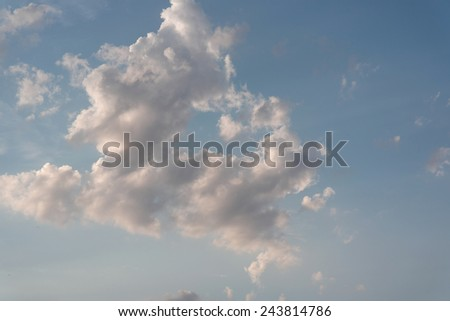 Evening beautiful sky with clouds - stock photo