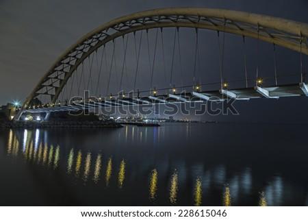 Evening Bridge - stock photo