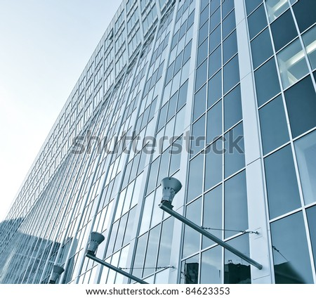 evening building of business center - stock photo