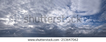 Evening cloudscape after the thunderstorm.  - stock photo