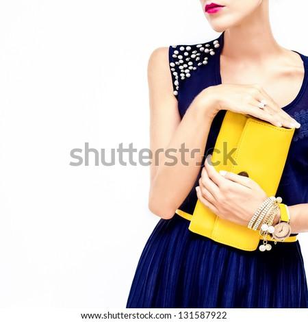 evening fashion style - stock photo