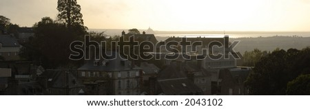 Evening Light in Normandy - stock photo