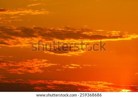 evening light on the sky  - stock photo