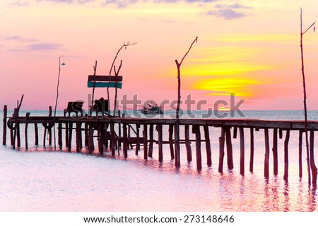 Evening Meditation At the End of the Day  - stock photo