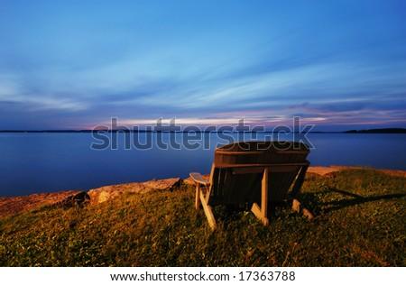 Evening Rice Lake,Ontario,Canada - stock photo