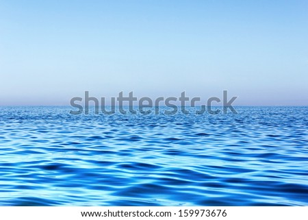 Evening sea background
