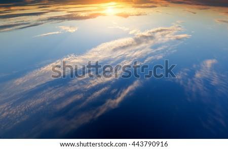 evening sky background.  Element of design. - stock photo