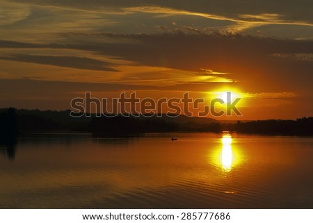 Evening sky with clouds - stock photo
