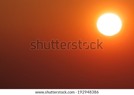 Evening sun over Freiburg city, Germany with lots of space for your text - stock photo