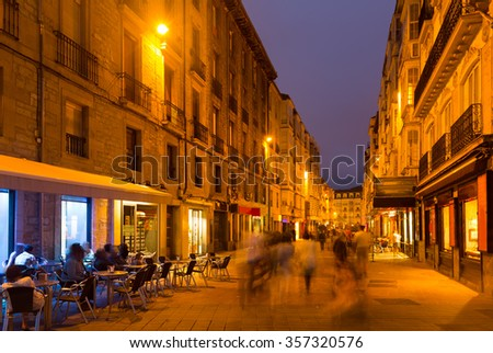 Evening view  of historic part of  Vitoria-Gasteiz.  Basque Country, Spain  - stock photo