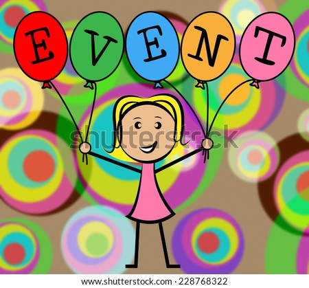 Event Balloons Meaning Young Woman And Ceremonies - stock photo