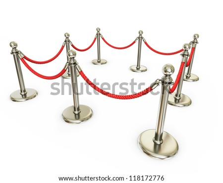 event fence isolated on a white background - stock photo