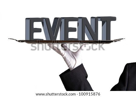 event on white