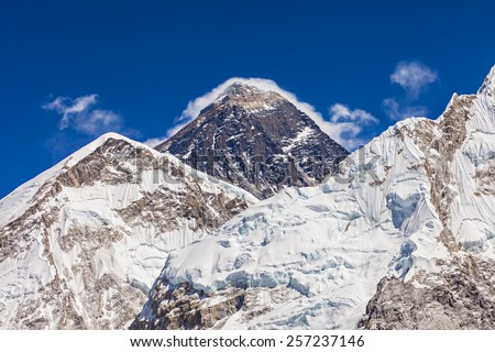 Everest is a highest mountain in the world, Himalaya, Nepal - stock photo
