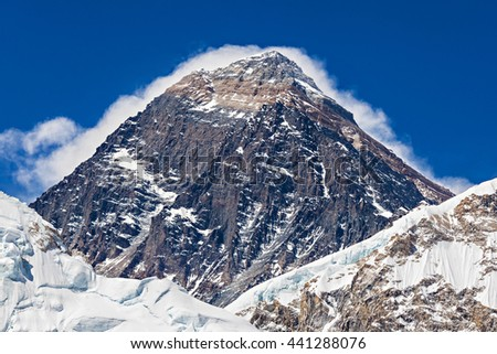 Everest is a highest mountain in the world, Himalaya, Nepal