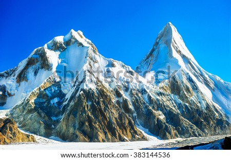 Everest Region of the Himalayas - stock photo