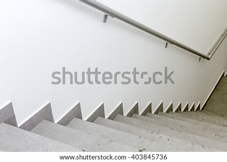 Every building is required to have emergency stairways as safety measure. - stock photo