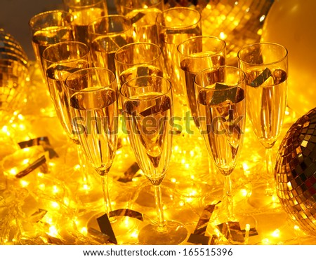 Every celebration party follows with drinks and champagne