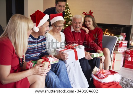 Everybody is waiting for his present - stock photo