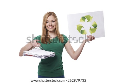 Everyone is responsible for recycling - stock photo