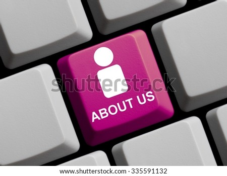 Everything about us online - Symbol on Computer Keyboard