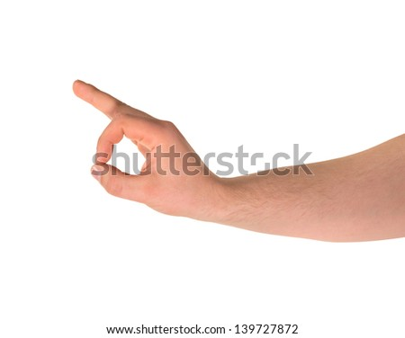 Everything is fine caucasian okay hand gesture isolated over white background - stock photo