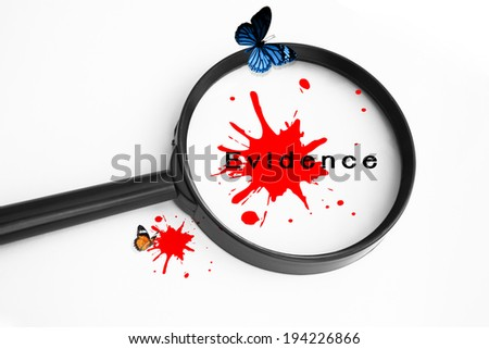 Evidence Concept Background,Use For Crime Concept - stock photo