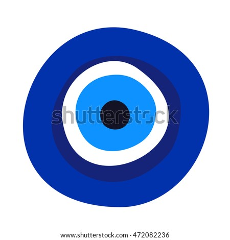 evil eye symbol amulet illustration on white background
