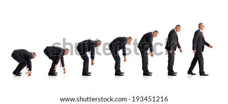 Evolution of business - stock photo