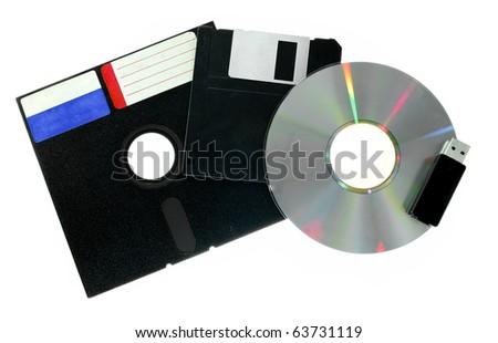 Evolution of Data Storage - stock photo