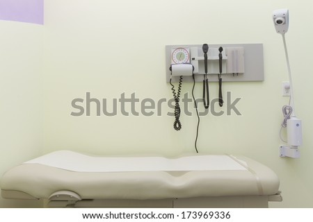 Examination room at a doctor's office - stock photo