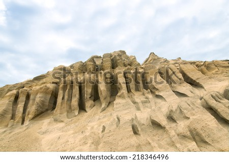 Example of erosion over time - stock photo