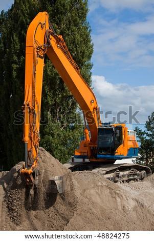Excavating - stock photo
