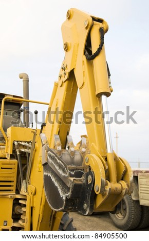 excavator bucket - stock photo